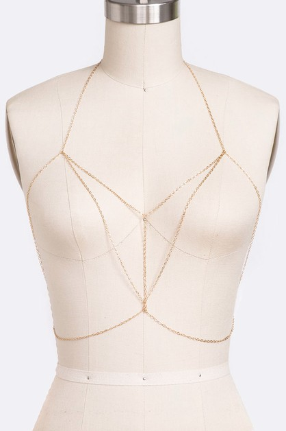 Dainty Iconic Body Chain - orangeshine.com