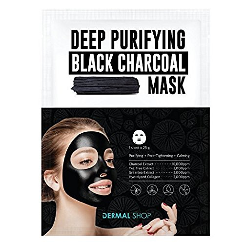 DERMAL BLACK CHARCOAL MASK-20pcs - orangeshine.com