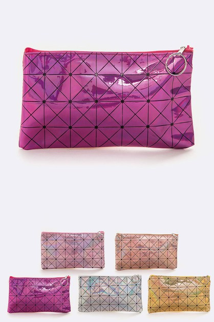 Holographic Makeup Pouch Set - orangeshine.com