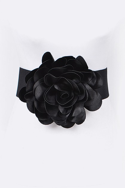 Iconic Large Flower Stretch Belt - orangeshine.com