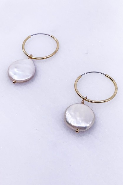 Pearl Drop Earrings - orangeshine.com