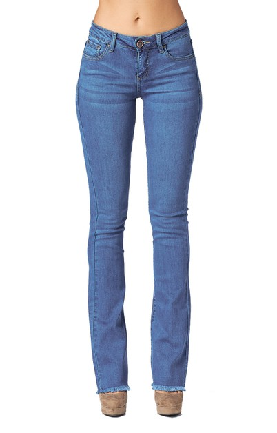 Women Premium Wash Semi Flared Jeans - orangeshine.com