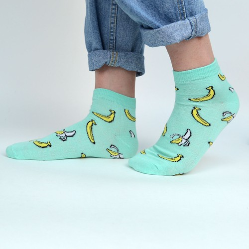 6 pairs-pack Women Banana Fun Sock - orangeshine.com
