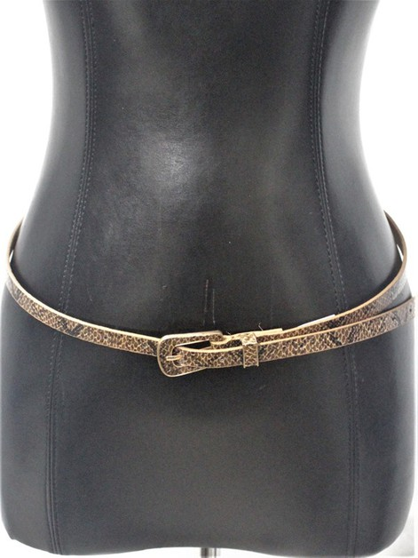 snake skin Skinny Long Belt - orangeshine.com