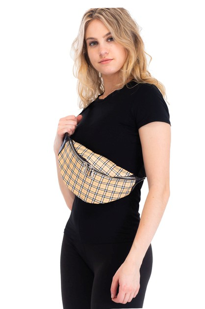 Fashion Classic Plaid Fanny Pack - orangeshine.com