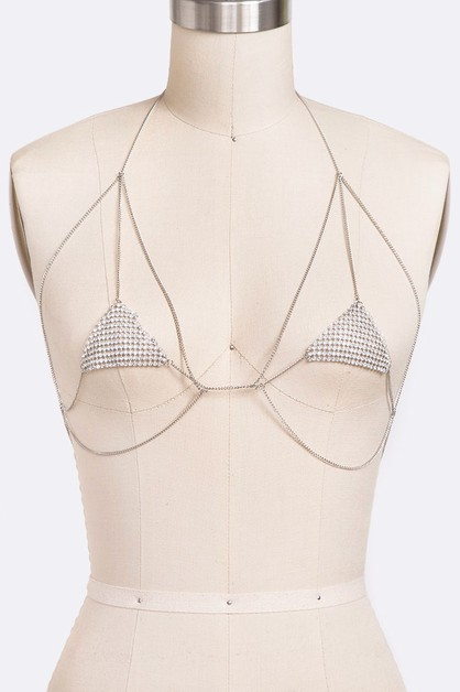 Crystal Mesh Iconic Bra Body Chain - orangeshine.com