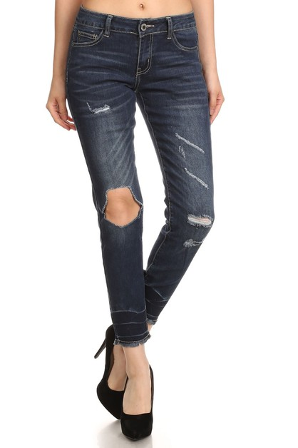 AMERICAN BLUE DISTRESSED DENIM JEANS - orangeshine.com