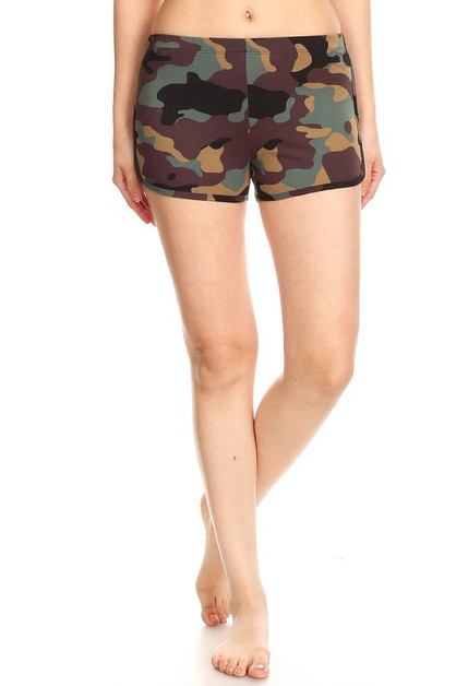 Hot Track Shorts Camo Print Soft - orangeshine.com
