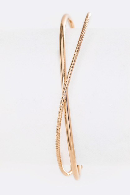 Crystal Pave Dainty Wired Cuff - orangeshine.com