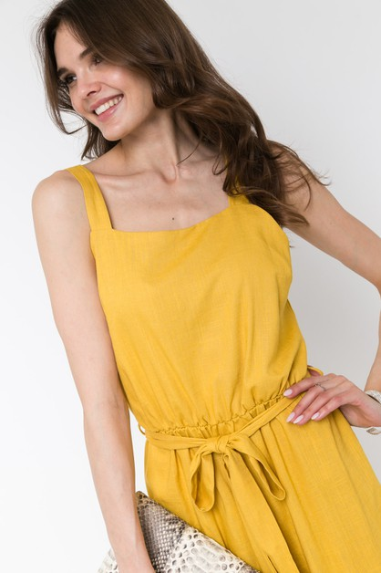 TANK JUMPSUIT WITH OPENBACK WITH BUT - orangeshine.com