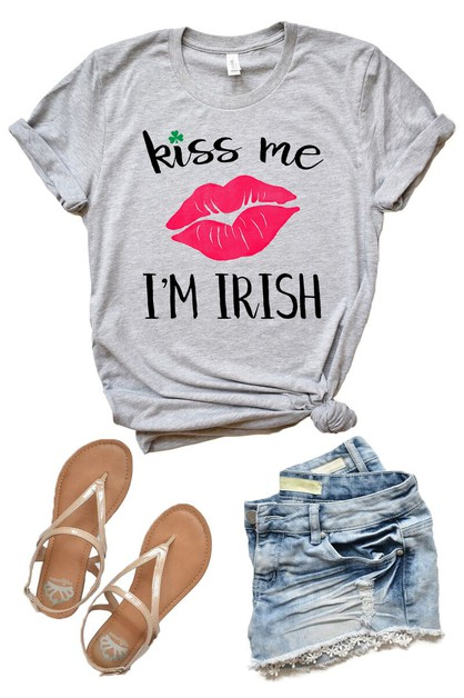 Kiss Me im Irish - St Patricks Day - orangeshine.com
