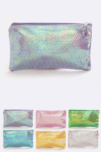 Metallic Makeup Pouch Set - orangeshine.com