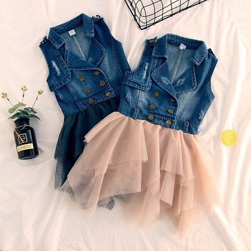 Girls Denim Tutu dress - orangeshine.com