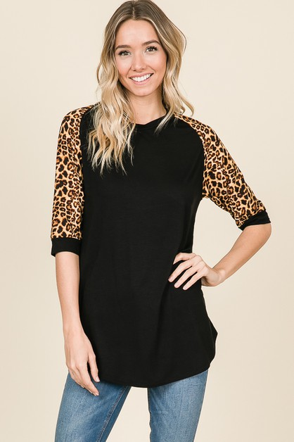 ANIMAL PRINT RAGLAN TUNIC - orangeshine.com