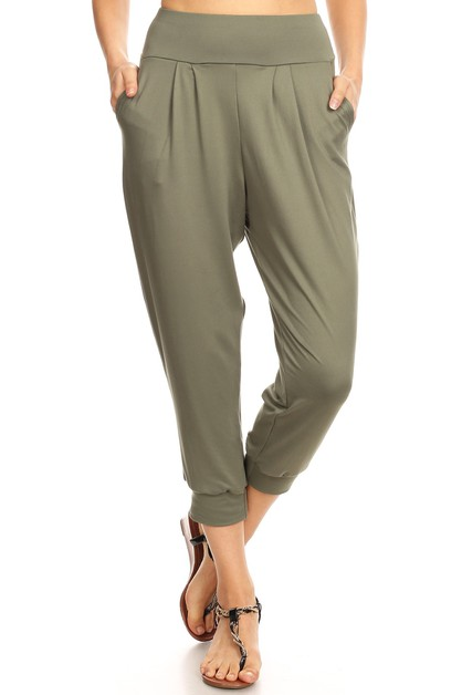 Cropped Harem Relaxed Joggers Pants - orangeshine.com