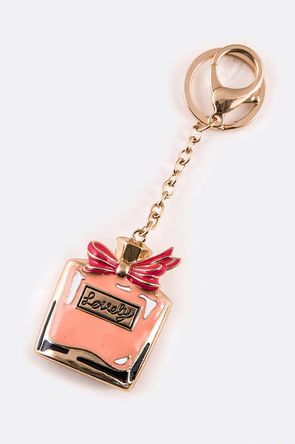 Enamel Perfume Bottle Key Chain - orangeshine.com
