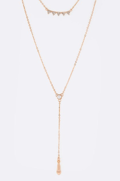 Dainty Crystalized Layer Necklace - orangeshine.com