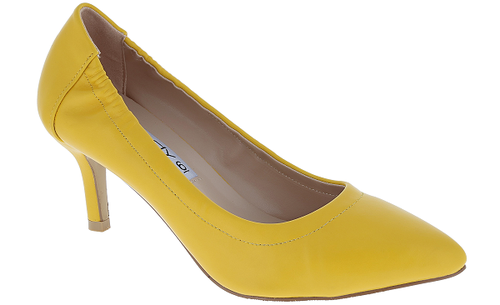Women Kitten Heel Pointed Toe Pumps - orangeshine.com