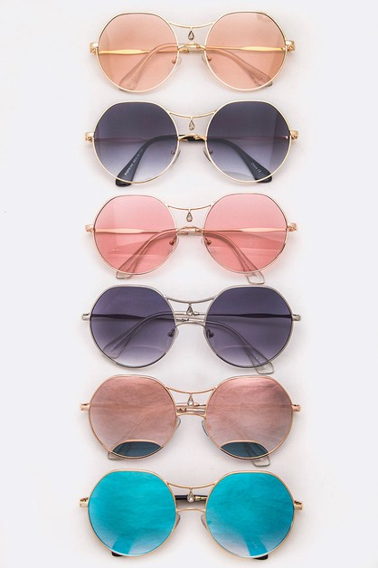 Iconic Teardrop Round Sunglasses - orangeshine.com