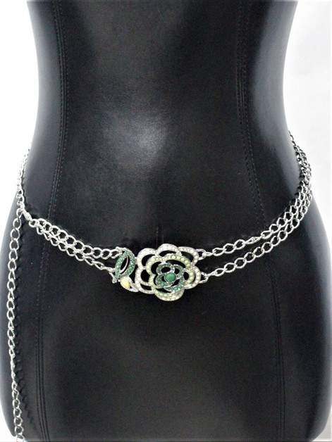FLOWER METAL CHAIN BELT - orangeshine.com