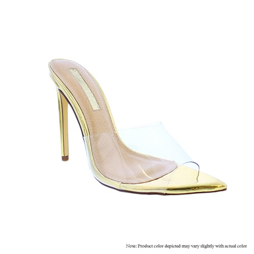 Clear Stiletto High Heel Sandals - orangeshine.com