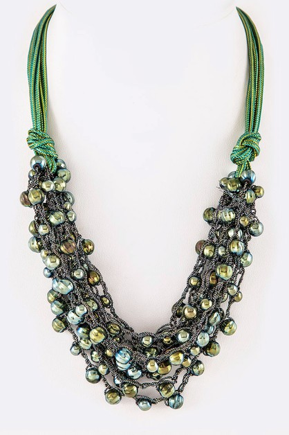 Mix Beads Layer Necklace - orangeshine.com