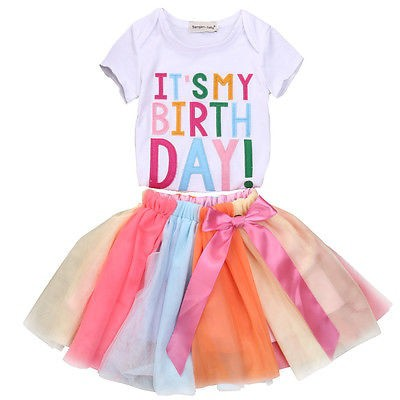 Girls Birthday outfit set - orangeshine.com