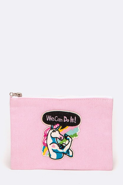 We Can Do It Unicorn Iconic Pouch - orangeshine.com