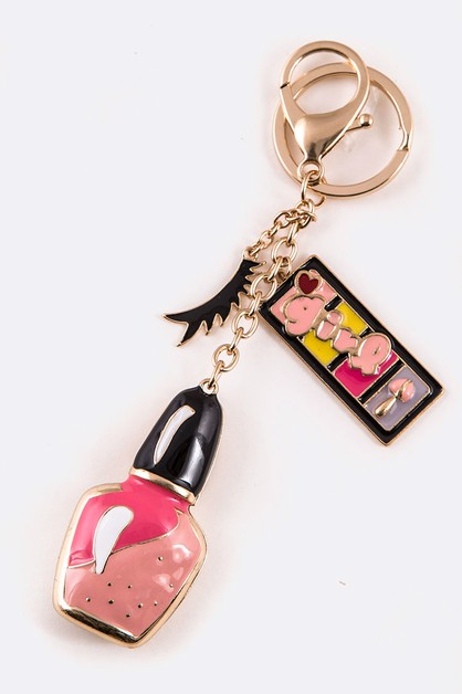 Enamel Nail Polish Iconic Key Chain - orangeshine.com