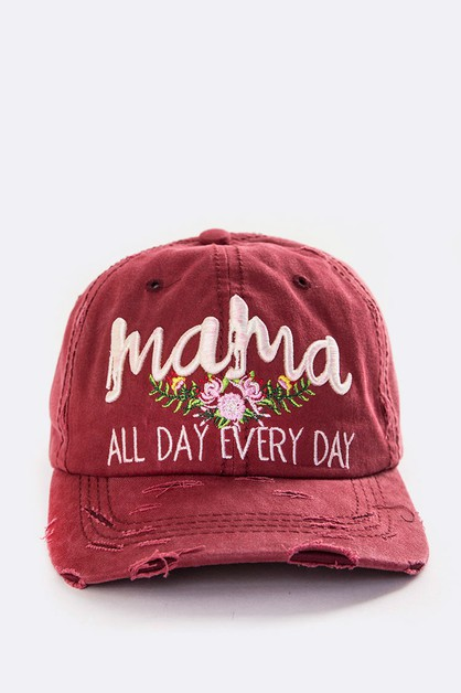 Mama All Day Embroidered Vintage Cap - orangeshine.com