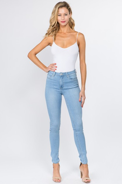 HIGH RISE BASIC SKINNY JEANS - orangeshine.com