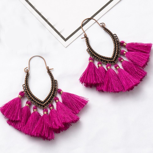 Boho Tassel drop earrings - orangeshine.com