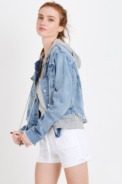 Denim Jacket with Terry Patch - orangeshine.com