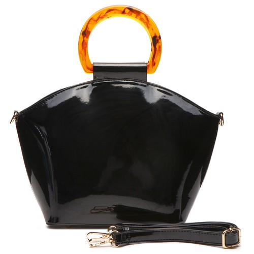 Acrylic Handle Satchel Bag - orangeshine.com