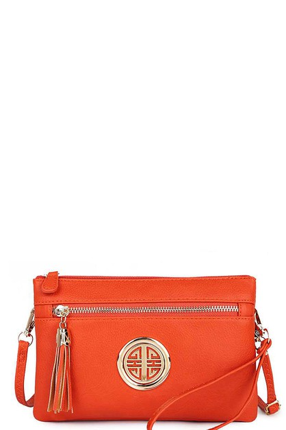 MULTI POCKET LOGO CLUTCH  - orangeshine.com