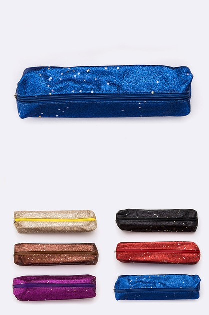 Glitter Star Pencil Makeup Case - orangeshine.com