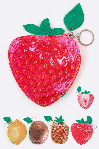 Assorted Fruit Coin Purse - orangeshine.com