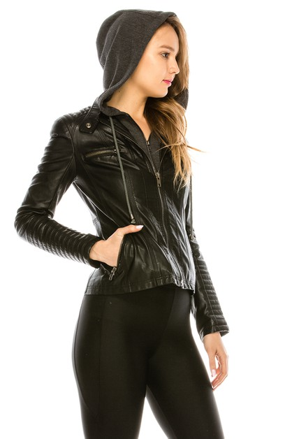 LEATHER MOTO JACKET - orangeshine.com