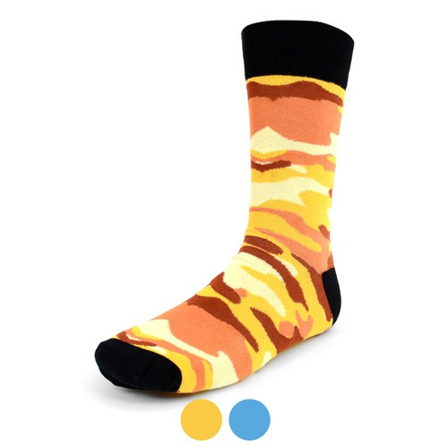 Men Color Camo Novelty Fun Socks  - orangeshine.com
