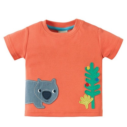 Boys bear Applique T shirt - orangeshine.com