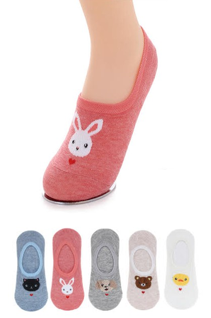 Cute Animal Cotton Socks Set - orangeshine.com