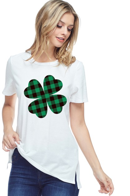 SHORT SLEEVE ST PATRICK GRAPHIC TOP - orangeshine.com