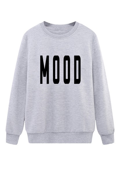 Mood Printed Sweater - orangeshine.com