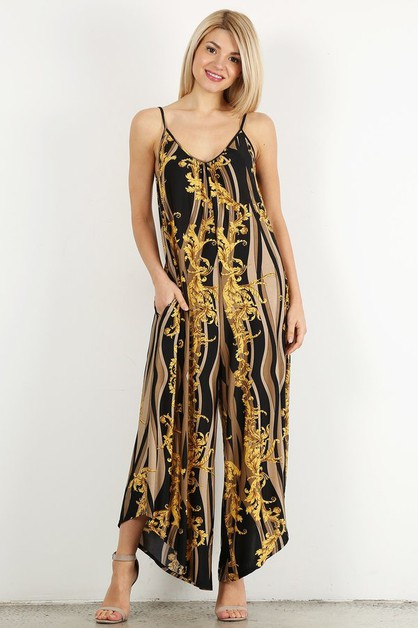 Printed jumpsuit in a relaxed fit  - orangeshine.com