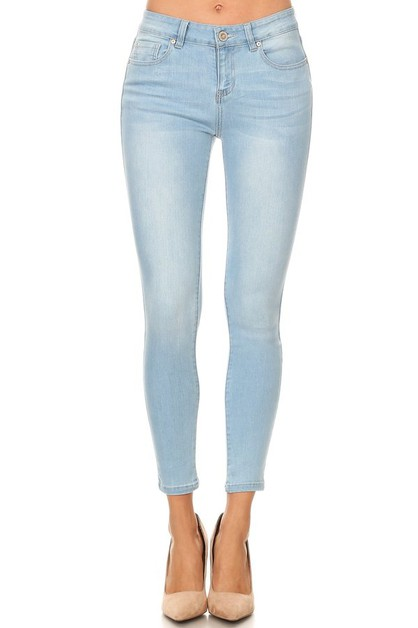 Classic Mid Rise Ankle Skinny Jeans - orangeshine.com