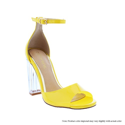 Clear High Heel Ankle Strap Sandals - orangeshine.com