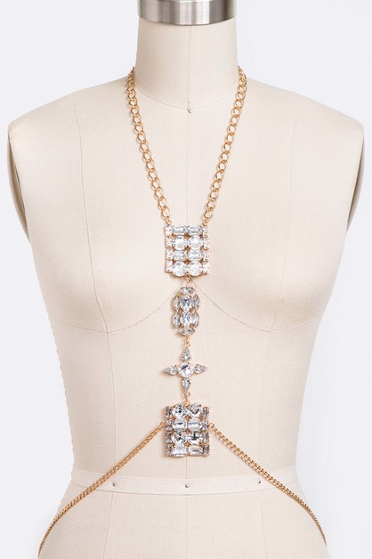 Crystal Iconic Body Chain - orangeshine.com