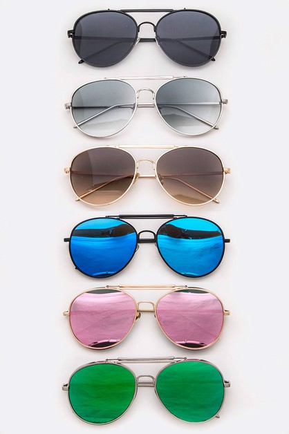 Aviator Mix Tint Sunglasses - orangeshine.com
