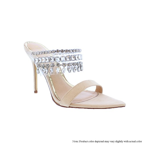 Rhinestone Clear Heels Sandals - orangeshine.com