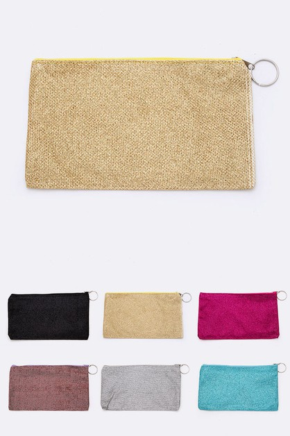 Glitter Makeup Pouch Set - orangeshine.com